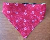Valentine's Day/St Patrick's Day Reversible, adjustable, washable dog bandana - Large