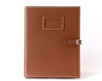 2 in 1 Handmade Leather iPad Case and Stand - Brown
