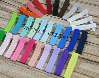 Partially Lined Alligator Clips - Single Prong 45mm Pinch Hair Clips - Wholesale DIY Clips - You Choose