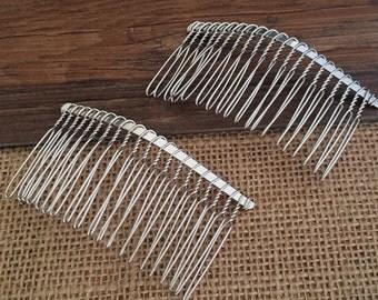 20Teeth Metal  Hair Combs  10PCS