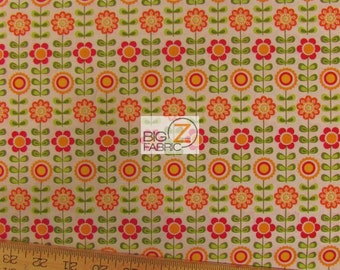 "Summer Song By Riley Blake 100% Cotton Fabric - 45"" Width Sold By The Yard (FH-1191)"