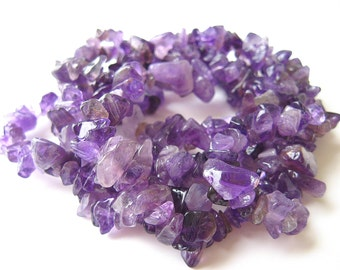 Amethyst Chips Beads Semiprecious Stone 36 inch Strand Small Natural Gemstone February Birthstone Wholesale Jewelry Supply CrazyCoolStuff