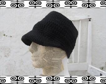 RESERVED Rasta Tube Dread Headband with brim black lined Size L