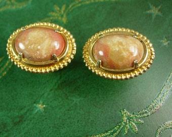 Agate Cufflinks Vintage Gold Plate Women's Men's Fashionable Cuff Links Sleeve Jewelry