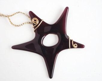 Fused Glass Star Ornament