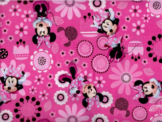 We have a large collection of Mickey Mouse and Minnie Mouse fabrics. This fabric on these pages are Mickey and Minnie together prints. These fabrics are great .