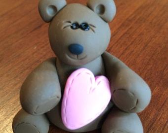 Polymer Clay Valentine's Day Teddy Bear