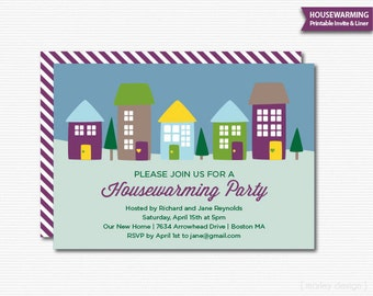 Housewarming Invitation Printable Open House Housewarming Party New Home Open House Invitation Digital Invite Houses Neighborhood Party
