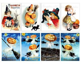 Halloween Download  Vintage Halloween Postcard Digital Download