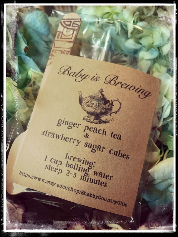 Italian Boy Name: Baby Is Brewing / Baby Shower Favors / Baby Shower Tea Party