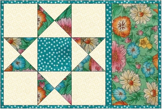 mug rug pattern snack mat mini quilt placemat by ...