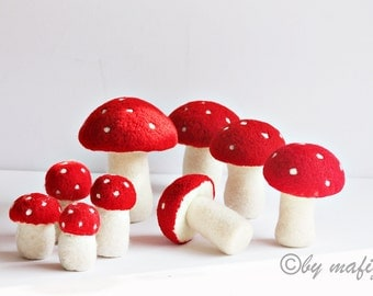 Thanksgiving Fungi toadstool decoration, Waldorfyear time table cep  Autumn okras