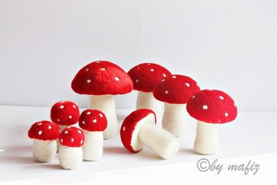 Pilze Fliegenpilz Deko Waldorf Jahreszeitentisch Steinpilz