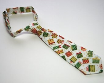 Christmas Presents Neck Tie With Adjustable Strap