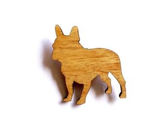 French Bulldog Dog Brooch laser cut frenchie canine