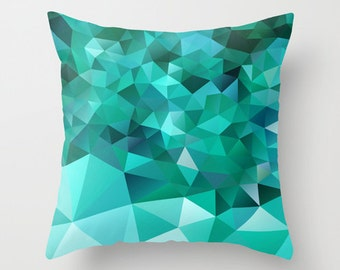 Green Pillow cover Throw pillow Cushion covers Pillow case Accent Couch pillow Decorative pillows Pattern Abstract Pattern 16x16 18x18 20x20