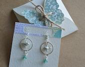Hand made silver plated little birdie earrings.