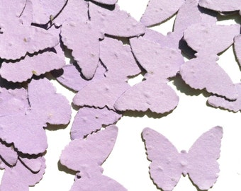 Lavender Butterfly Shaped Plantable Seed Paper Confetti, Wildflower Seed, Recycled Paper  - 100 Pack