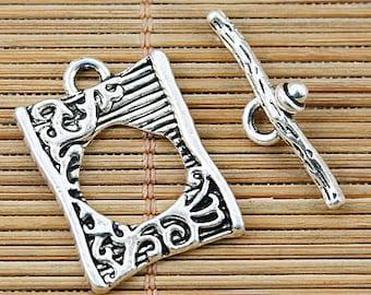 12pcs Tibetan silver anomalous shape toggle clasps EF1336