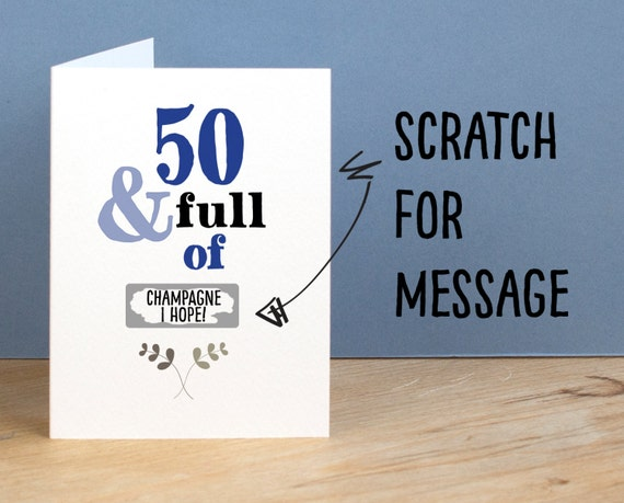 50th Birthday Card 50 And Full Of Rude Sarcastic Humorous