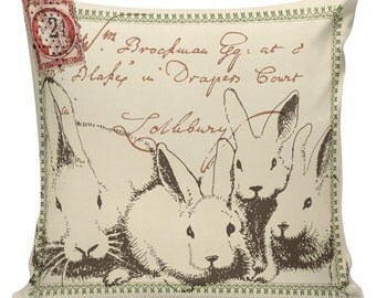 Easter Home Decor Pillow Cushion Spring Rabbit French Burlap Cotton Throw Pillow Cover SP-115