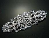 Swarovski crystal brooch dIY, applique, vintage buckle,wedding sash,rhinestone crystal buckle,rhinestone button - NO PIN,Nothing at back