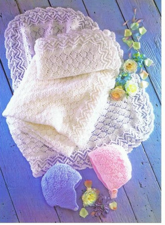 baby knitting pattern for vintage style baby shawl and