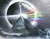 Dark Side of the Moon- Spray Paint Art