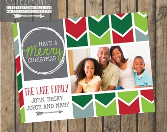 Chunky Chevron Christmas Card