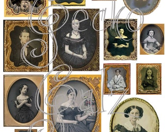 Vintage Portraits Digital Collage Sheet