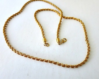 Monet Gold Tone Twisted Rope Necklace