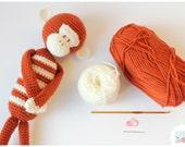 Crochet Kit DIY Monkey Brown Amigurumi