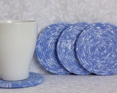 Drink coasters, party supplies, blue, white, hostess gift, house warming gift, wedding gift, kitchen ware, dinner ware