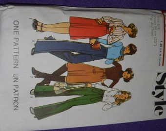 Vintage 70s Style 1739 Junior Teens Skirt  and Trousers Sewing Pattern - UNCUT - Many sizes available