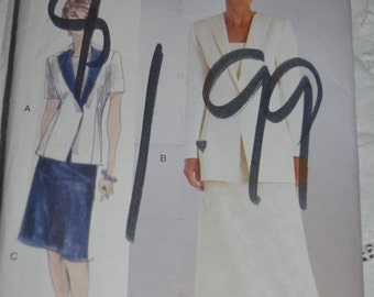 Vogue 9975 Misses Jacket and Skirt Sewing Pattern - UNCUT - Size 14 16 18