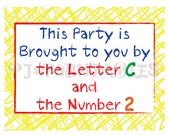 Elmo's World Letter/ Sesame Street Inspired Birthday Sign- Customized Digital File