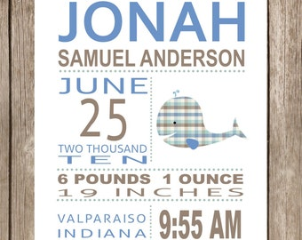 PRINTABLE Jonah Whale Subway Art Print PDF