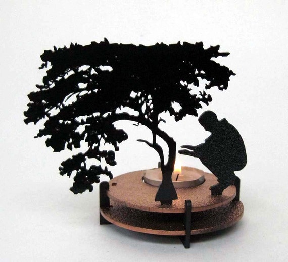 Cold Man Tea Light Candle Holder