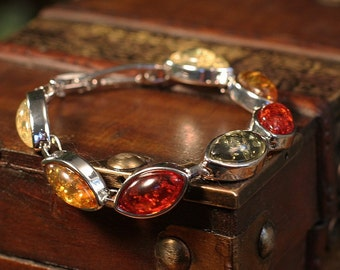 Lovely Tree Resin Bracelet in Four Distinct Colors