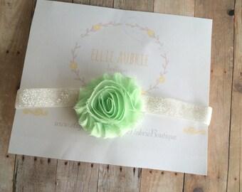 Green headband , baby green headband, adult headband