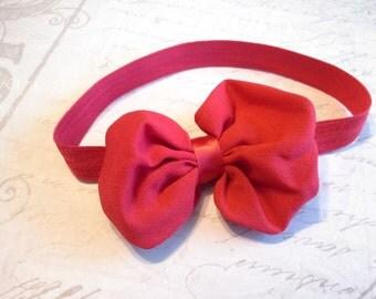 baby headband, baby girl headband, chiffon headband, red headband, bow headband, flower headband, christmas headband,  holiday headband