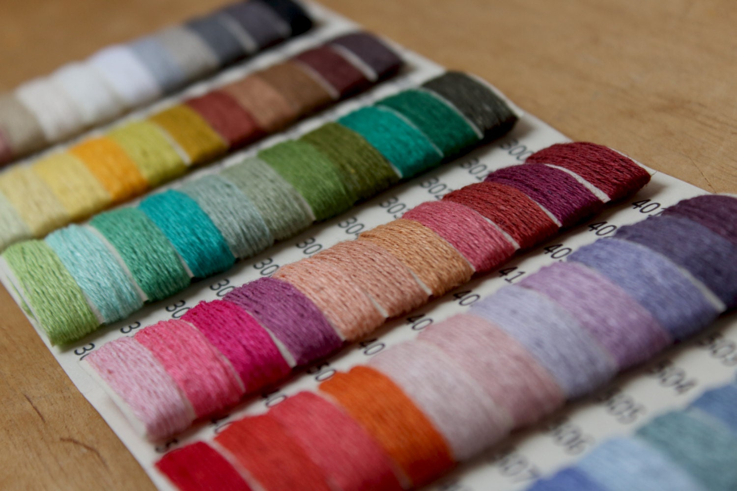 Sample Card 66 colors LINEN yarn by YarnStories on Etsy