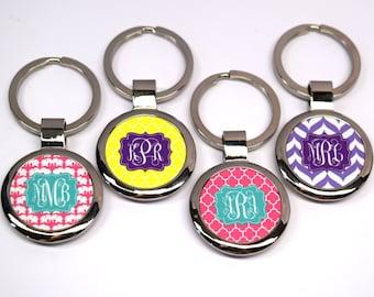 Circle Monogram Key Chain : Full Color