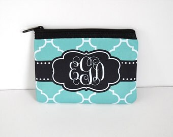 Monogrammed Custom Change Purse