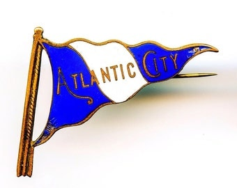 Enamel Atlantic City Flag Pin