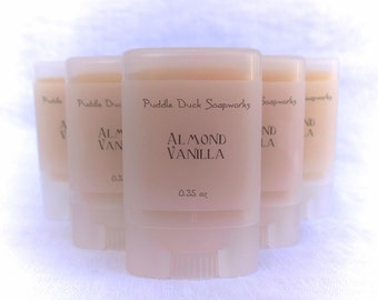 SALE Almond Vanilla Solid Perfume. Scented with warm vanilla and amaretto - Natural, long lasting personal fragrance