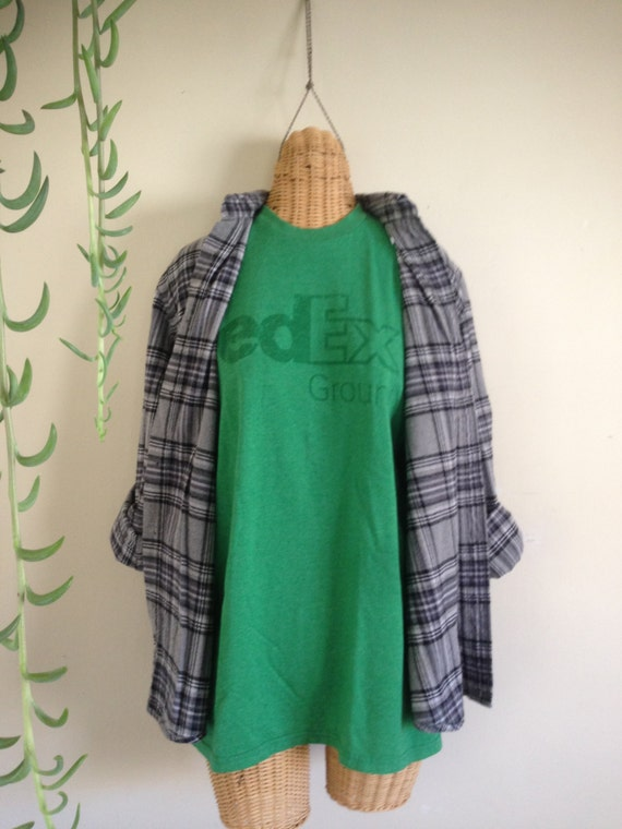 Plaid Flannel Shirt And Tshirt 90s Grunge By Justtheprettiest