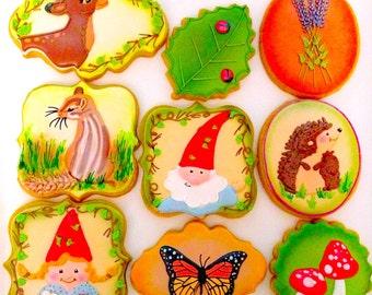 12 Vegan Garden Themed Sugar Cookies