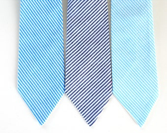 Toddler neck tie, little boy tie, kids necktie, blue necktie for boys, boys tie, boys first birthday outfit, ring bearer tie, baby tie