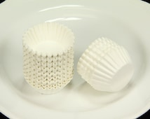 "5# 1.25"" Paper Liners Candy Nut Chocolate Cookie Cup Baking Cups White, 200 pcs"